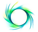 Circular Swirl on white background