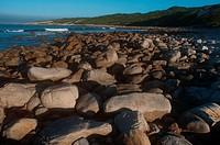 Rocks on beach, Port Saint Francis, Eastern Cape Province, South Africa