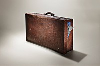 Studio shot of old fashioned suitcase