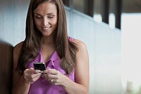 Woman text messaging
