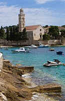 Hvar, Croatia,ancient stone breakwater,Adriatic Sea,Ancient City,Island