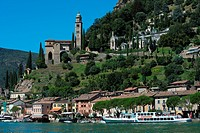 Switzerland, Canton Ticino, Lugano lake, Morcote ...