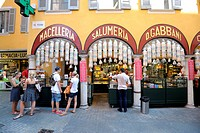 Switzerland, Canton Ticino, Lugano lake, Lugano town, Gabbani delicatessen food shop                                                                  ...