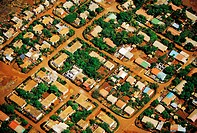An aerial view of one of Kimberley´s small towns.