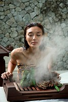 Malay Herbal Facial Steam at the Bath Houseat the Spa Village. Pangkor Laut Resort,Pangkor Laut, Malaysia                                             ...
