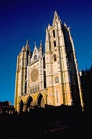 Gothic cathedral, Leon, Way of St James, Castilla-Leon, Spain