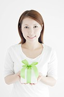Young Woman with Gift Box