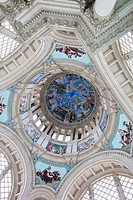 dome interior Museu Nacional d´Art de Catalunya MNAC, National Art Museum of Catalonia Montjuic,