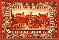 DIG Germany, around 1933, advertisement poster, lebkuchen and sugar factory bear, Nuremberg, Firma exists for a long time no longer, to gingerbread, s...