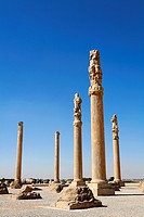 Standing columns at Persepolis, Iran