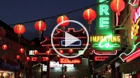 Chinatown at night Los Angeles CA, USA