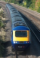 First Great Western high speed class 43 passenger train on the move at Slough  England