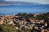 Italy, Liguria, Santa Margherita Ligure, general aerial view,