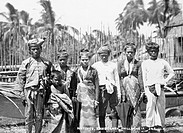 Moro people. Photographed at Zamboanga, Mindanao, in the Philippines, during the voyage of HMS Challenger 1872_1876. This scientific expedition, organ...