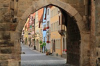 Townscape of Rothenburg, Germany