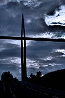 Millau viaduct. This large cable_stayed road bridge spans the valley of the river Tarn near Millau in southern France. It is the tallest vehicular bri...