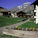 Saas-Fee resort village, canton Valais, Switzerland