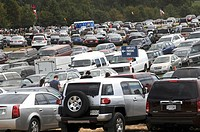parking lot at the Medieval festival in Crownsville, Maryland