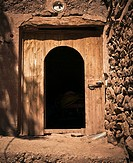 adobe house door, Azilal, Morocco
