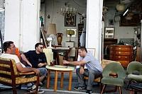 the flea market in Jaffa, Tel Aviv, Israel
