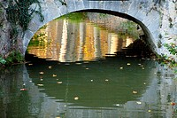 Bridge, Canal du Midi. Midi Pyrénées. France