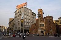 Corso Venezia street at Piazza San Babila square centro storico central Milan Lombardy region Italy Europe