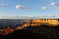 Sunset on the Grand Canyon National Park from Yaki Point, Arizona, USA
