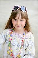 Beautiful little girl portrait in outdoors