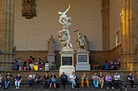 Florence, The Rape of the Sabines, La Signoria square, Piazza della Signoria, Tuscany  Italy  Europe.