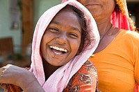 Young woman smiling - Shyampura Village, Rajasthan, India