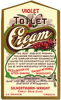vintage label for skin cream