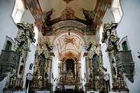 Interior of Sao Francisco de Assis church with the Altar made by Aleijadinho, Mariana, Minas Gerais, Brazil