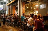 People at Boteco da Garrafa restaurant in Lapa, Rio de Janeiro, Brazil