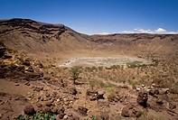Kenya, Magado Crater, site of salt wells maintained by Meru people