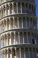 Pisa Italy  Architectural detail of the Tower of Pisa