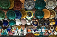 Ceramics for sale, Souk, Medina, Marrakech Marrakesh, Morocco, North Africa, Africa