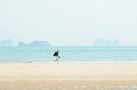 Man at beach, Mui Ne, Vietnam, Asia