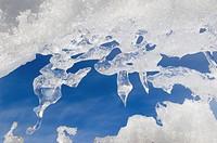Antarctica, Ross Sea, Cape Adare. Icicles close_up.