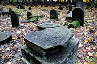 Historic Jewish cemetery at Okopowa Street in Warsaw, Poland