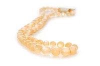 Pearl necklace isolated on the white