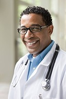 Smiling African American doctor