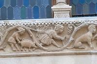 Italy, Abruzzo region, Sulmona, detail of the Palazzo SS. Annunziata