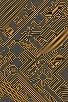 Circuit board industrial yellow _ gray background