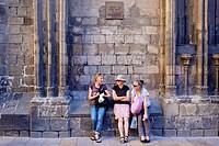 Plaça del Pi, Gothic Quarter, Barcelona, Catalonia, Spain