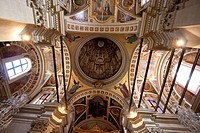 Renaissance paintings in the interior of a cupola of St. Marija Cathedral inside the Citadel, Victoria Rabat, Gozo Island, Malta