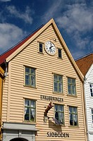 Norway, Bergen. Downtown old Hanseatic historic area of Bryggen, UNESCO World Heritage City.