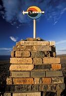Norway, North Cape. Lattitude marker