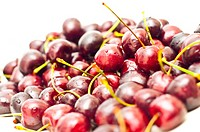 cherries with visible droplets