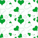 heart green pattern