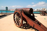 Cannon in Saint Gabriel's castle, Arrecife, Lanzarote, Canary Islands, Spain